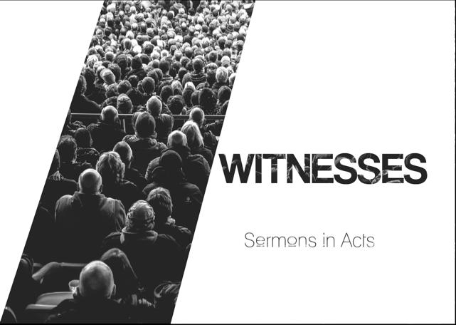 Sermon series Witness 2017